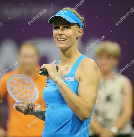 Elena Dementieva of Russia Announces Her Retirement After Her Match Against Francesca Schiavone of Italy During Day Four of the Wta Championships at the Khalifa Tennis Complex in Doha Qatar on 29 October 2010 Qatar Doha