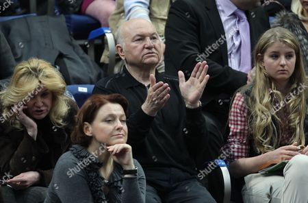 Yury Luzhkov (c) Former Mayor of Moscow Applauds During 1/2 Final Tennis Fed Cup Match in Moscow Russia 17 April 2011 Russian Federation Moscow
