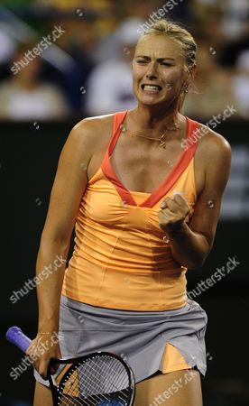 Maria Sharapova of Russia Reacts During Her Match Against Dinara Safina of Russia at the Bnp Paribas Open in Indian Wells California Usa 15 March 2011 United States Indian Wells