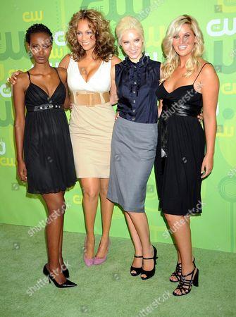 Fatima Siad, Tyra Banks, Anya Kop and Whitney Thompson