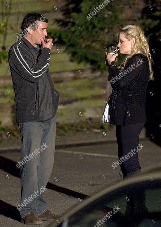 Steve Coogan and Caroline Aherne