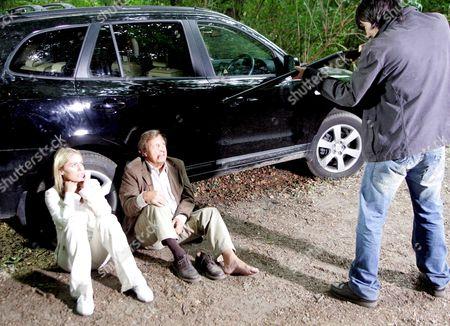 'Emmerdale'   TV Patsy Kensit, Ken Farrington and Jeff Hordley