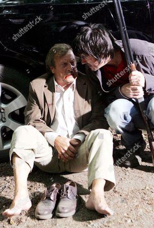 'Emmerdale'   TV Ken Farrington and Jeff Hordley
