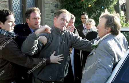 'Emmerdale'   TV Alex Carter, Antony Audenshaw, Billy Hartman and Kenneth Farrington.