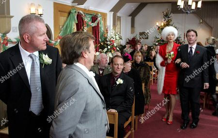 'Emmerdale'   TV The Wedding of Kenneth Farrington and Linda Thorson.