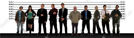 'Emmerdale'   TV Line up of Suspects for the murder of Kenneth Farrington who played Tom King.