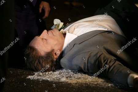 'Emmerdale'   TV Kenneth Farrington after he had been murdered.