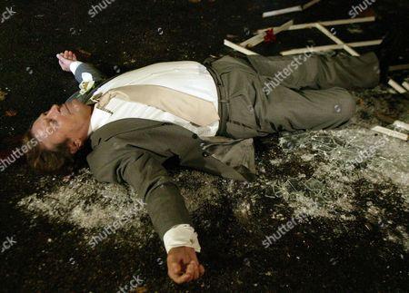 'Emmerdale'   TV Kenneth Farrington after his fatal fall.