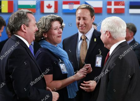 (l-r) British Defence Minister Liam Fox Danish Defence Minister Gitte Lillelund Bech Canadian Defence Minister Peter Gordon Mackay and Us Defence Secretary Robert Gates During a Nato / Russia Defence Ministers Meeting at the Nato Headquarters in Brussels Belgium 08 June 2011 According to Reports the Talks Will Focus on Cooperation in Anti-missile Defense Belgium Brussels