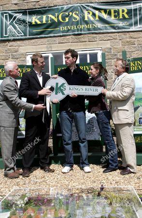 'Emmerdale'   TV Chris Chittell, Tom Lister, Mark Charnock and Kenneth Farrington