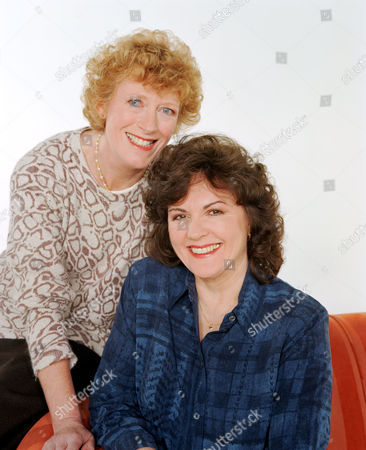 'Barbara'   TV Madge Hindle (left) with Gwen Taylor
