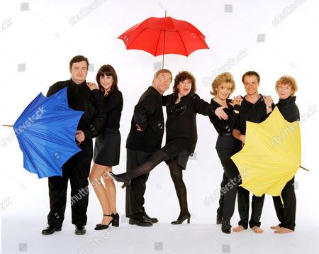 Stock Photo of 'Barbara'   TV L-R. Mark Benton, Elizabeth Carling, Sam Kelly, Gwen Taylor, Sherrie Hewson, Benedict Sandiford and Madge Hindle