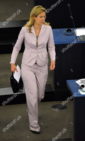 German Eu Deputy Silvana Koch-mehrin Arrives For the Plenary Session of the European Parliament in Strasbourg France 11 May 2011 the German Newspaper Sueddeutsche Zeitung Reported 11 May 2011 That Koch-mehrin is to Be Asked to Defend Herself Against Charges of Plagiarism in Her Doctoral Dissertation the Charges Are Serious Enough For Heidelberg University to Consider Revoking Koch-mehrin's Doctorate if She Doesn't Provide an Adequate Explanation the Newspaper Reported Without Citing a Source France Strasbourg