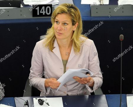 German Eu Deputy Silvana Koch-mehrin During the Plenary Session of the European Parliament in Strasbourg France 11 May 2011 the German Newspaper Sueddeutsche Zeitung Reported 11 May 2011 That Koch-mehrin is to Be Asked to Defend Herself Against Charges of Plagiarism in Her Doctoral Dissertation the Charges Are Serious Enough For Heidelberg University to Consider Revoking Koch-mehrin's Doctorate if She Doesn't Provide an Adequate Explanation the Newspaper Reported Without Citing a Source France Strasbourg
