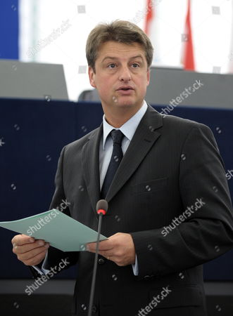 Belgium Secretary of State For Eu Affairs Olivier Chastel Delivers His Speech About the Upcoming G20 and Eu Summit During the Plenary Session at the European Parliament in Strasbourg France 20 October 2010 South Korea Will Host the G-20 Summit on 11-12 November in Seoul France Strasbourg