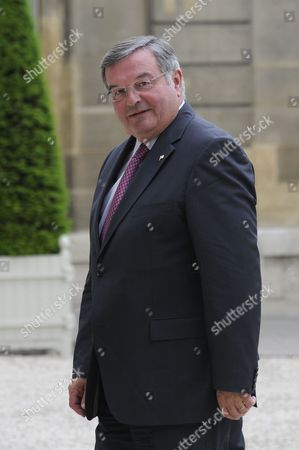 French Justice Minister Michel Mercier Arrives at the Elysee Palace in Paris France 09 May 2011 French President Nicolas Sarkozy Organized a Reception For Interior Ministers at the Elysee Palace an Extended G8 Interior Ministers Conference Focusing on the International Fight Against Transatlantic Drug Trafficking Will Be Held Tomorrow in Paris France Paris