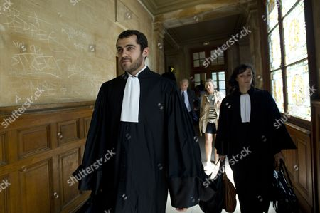 British Designer John Galliano's Lawyer Aurelien Hamelle (l) Arrives at the Paris Courthouse France 22 June 2011 Galliano Stands Trial 22 June on Charges For Allegedly Making Anti-semitic Statements in a Parisian Bar on February 2011 As Well As Using Racial Slurs France Paris