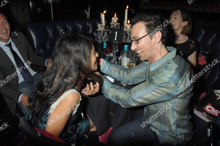 Konnie Huq and Celeb Hairdresser Stuart Phillips
