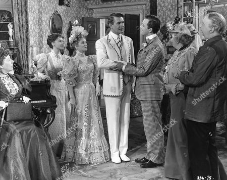 'The Importance Of Being Earnest'   Film L-R. Edith Evans, DorothyTutin, Joan Greenwood, Michael Redgrave, Michael Denison, Margaret Rutherford and Miles Malleson