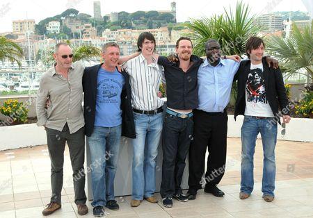 Stock Picture of Steve McQueen, Michael Fassbender, Liam Cunningham , Stuart Graham, Brian Milligan and Liam McMahon
