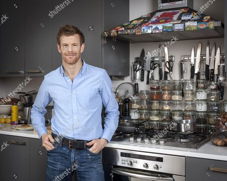 Chef Tom Aikens at home in his kitchen