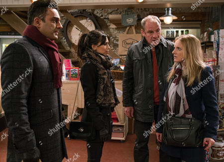 Nicola King's, as played by Nicola Wheeler, determined to find out about the insurance money and confronts Rakesh Kotecha, as played by Pasha Bocarie, and Priya Koetcha, as played by Fiona Wade, when she sees them even suggesting Rakesh started the fire. (Ep 7724 - Mon 16th January 2017)***
