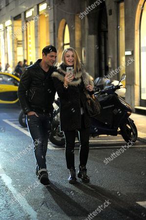 Aldo Montano and wife