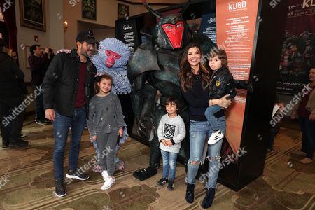 Stock Photo of Ali Landry, Alejandro Gómez Monteverde and children Estela Ines Monteverde, Marcelo Monteverde (son of Ali Landry), Valentin Monteverde (son of Ali Landry)