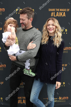 Kyle Newman, Jaime King and son James Knight Newman
