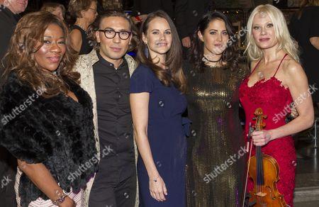 Gladys Del Pilar, Fredrik Benedict, Princess Sofia, Molly Sanden, Linda Lampenius