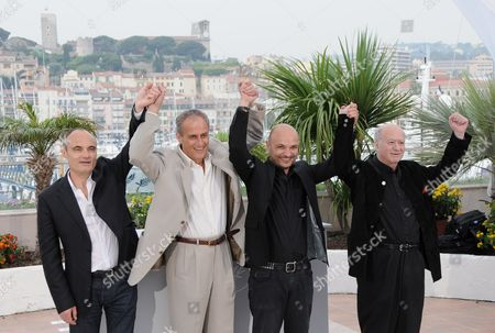 Philippe Val, Director Daniel Leconte, Richard Malka and Georges Wolinski
