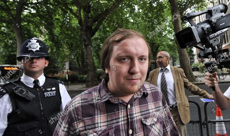 Jonathan May-bowles Arrives at the Westminster Magistrates Court in London Britain 02 August 2011 May-bowles is Accused of Throwing a Paper Plate of Shaving Foam at News Corporation Chairman and Ceo Rupert Murdoch As He Gave Evidence to Members of Parliament is Appearing in Court on Charges of Causing Harassment and Alarm Or Distress in a Public Place United Kingdom London