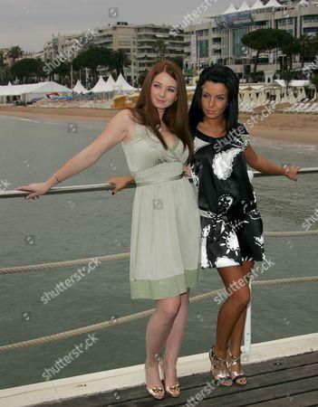 Stock Image of Elena Katina and Julia Volkova of Tatu