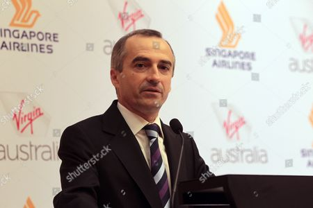 John Borghetti Ceo of Virgin Australia Speaks During a Press Conference in Singapore on 07 June 2011 Singapore Airlines and Virgin Australia Have Signed a Long-term Partnership Deal Which Will Allow the Two Airlines to Codeshare on Each Other's International and Domestic Flights Singapore Singapore