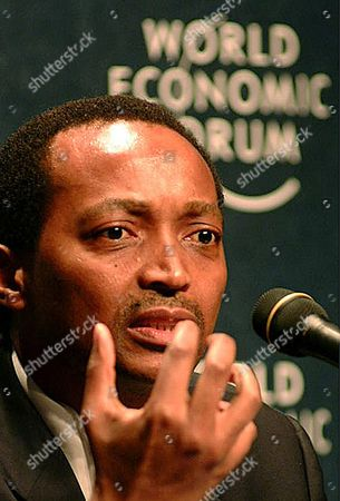 Patrice Motsepe Chairman of Africa Rainbow Minerals Addresses the Opening Session of the World Economic Forum's Africa Economic Summit in Durban South Africa 11 June 2003 Epa-photo/epa/str South Africa Durban