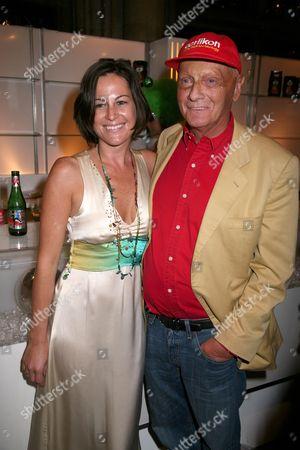 Niki Lauda with girlfriend Birgit Wetzinger
