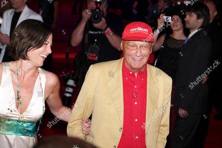 Niki Lauda and Birgit Wetzinger