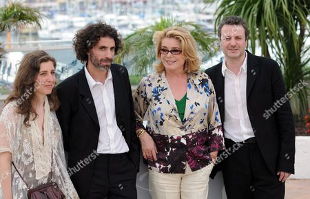 Joana Hadjithomas, Rabih Mroue, Catherine Deneuve and Khalil Joreige