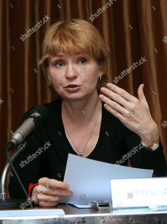 Alla Bout Wife of Alleged Russian Arms Dealer Viktor Bout Speaks During a Press Conference in Bangkok Thailand 22 November 2010 Alla is Planning to Sue the Thai Government That Has Approved the Extradition of Alleged Russian Arms Dealer Viktor Bout to the United States and Try to Bring Him Back to Face Charges and Flee Him in Thailand Bout 43 was Arrested in Bangkok in March 2008 in a Sting Operation Led by Us Agents who Posed As Arms Buyers For a Leftist Rebel Group the Revolutionary Armed Forces of Colombia (farc) the Former Soviet Air Force Officer Has Denied Allegations That He Supplied Illegal Arms to Buyers in Africa South America and the Middle East Thailand Bangkok