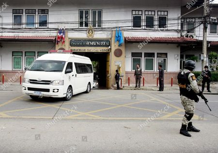 Thai Policemen and Prison Officials Guard As Police Van Transporting Alleged Russian Arms Dealer Viktor Bout Leave Bangkwang Prison to Don Mueang Airport in Bangkok Thailand 16 November 2010 Thailand Has Approved the Extradition of Alleged Russian Arms Dealer Viktor Bout to the United States Prime Minister Abhisit Vejjajiva Announced 16 November 2010 Bout 43 was Arrested in Bangkok in March 2008 in a Sting Operation Led by Us Agents who Posed As Arms Buyers For a Leftist Rebel Group the Revolutionary Armed Forces of Colombia (farc) the Former Soviet Air Force Officer Has Denied Allegations That He Supplied Illegal Arms to Buyers in Africa South America and the Middle East Thailand Bangkok