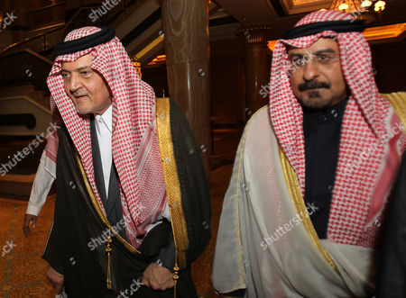 Saudi Foreign Minister Prince Saud Al-faisal (l) and His Kuwaiti Counterpart Sheikh Mohammad Sabah Al-salem Al-sabah Arrive to Attend the Meeting of 118th Gulf Cooperation Council (gcc) Ministrial Council at the Emirates Palace Hotel in Abu Dhabi United Arab Emirates on 07 March 2011 Epa/ali Haider United Arab Emirates Abu Dhabi