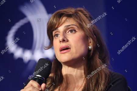 Hrh Princess Dina Mired Director General King Hussein Cancer Foundation Takes Part in a Meeting Titled Addressing Cancer in the Developing World: Health Equity and an Overlooked Public Health Crisis During the Second Day of the Sixth Annual Clinton Global Initiative in New York New York Usa 22 September 2010 the Annual Meetings is Led by Bill Clinton to Address Poverty Health Climate Change and Other Worldwide Issues Drawing Activists and Political Leaders From Around the World United States New York