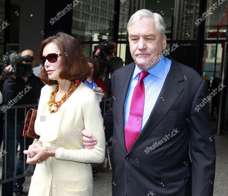 Former Hollinger International Chairman Conrad Black (r) Leaves with His Wife Barbara Amiel (l) the Dirksen Federal Courthouse in Chicago Illinois Usa After a Resentencing Hearing 24 June 2011 U S District Judge Amy St Eve Sentenced Black to 42 Months in Prison on His Remaining Guilty Verdicts on Single Counts of Defrauding Chicago-based Hollinger International Inc and Obstructing Justice with the Time That Black Has Served His Remaining Sentence Will Be 13 Months United States Chicago