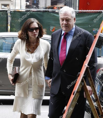 Former Hollinger International Chairman Conrad Black (r) Arrives with His Wife Barbara Amiel (l) at the Dirksen Federal Courthouse For a Resentencing Hearing in Chicago Illinois Usa 24 June 2011 in 2007 a Jury Convicted Black 66 Whose Media Empire Included the Chicago Sun-times For Defrauding Investors in Hollinger International Inc He was Sentenced to Six and a Half Years in Prison United States Chicago