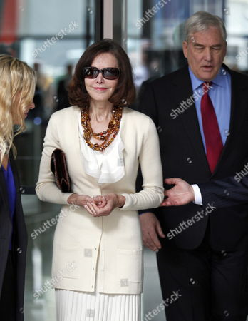Former Hollinger International Chairman Conrad Black (r) Leaves with His Wife Barbara Amiel (c) the Dirksen Federal Courthouse in Chicago Illinois Usa After a Resentencing Hearing 24 June 2011 U S District Judge Amy St Eve Sentenced Black to 42 Months in Prison on His Remaining Guilty Verdicts on Single Counts of Defrauding Chicago-based Hollinger International Inc and Obstructing Justice with the Time That Black Has Served His Remaining Sentence Will Be 13 Months United States Chicago