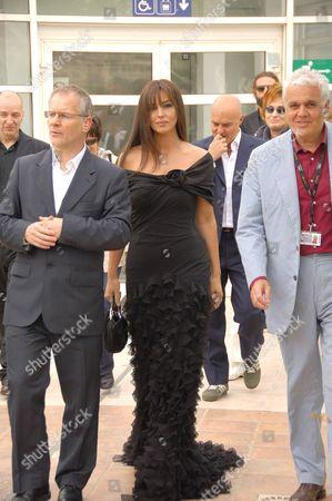 Monica Bellucci and Director Marco Tullio Giordana (r)