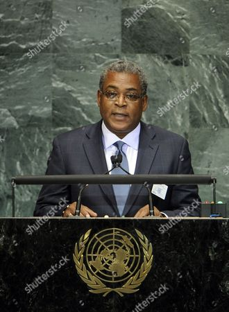 Jean-max Bellerive Prime Minister of the Republic of Haiti Speaks During the Millennium Development Goals Summit at United Nations Headquarters in New York New York Usa 21 September 2010 the Summit Which is Being Held in Conjunction with the General Debate of the 65th Session of the Un General Assembly Later This Week is a Way For World Leaders to Review the Ambitious Anti-poverty Targets Adopted in 2000 and Accelerate the the Achievement of the Goals That Have Been Set United States New York
