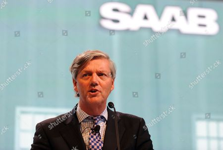 Victor Muller Chairman of Saab Automotive During a Press Conference at the New York International Auto Show in New York New York Usa 21 April 2011 United States New York