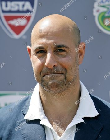Stock Image of Us Actor Stanley Tucci Poses For Photographers on 'Kids Day' at the Us Open Tennis Center in Flushing Meadows New York Usa 23 August 2008 United States New York