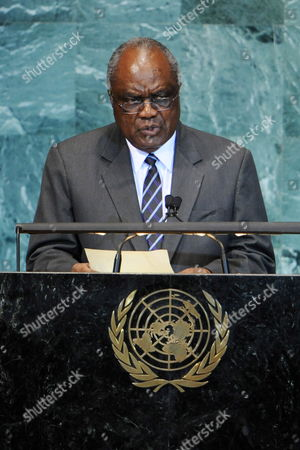Hifikepunye Pohamba President of the Republic of Namibia Speaks During the General Debate of the 65th Session of the United Nations General Assembly at United Nations Headquarters in New York New York Usa 24 September 2010 the General Debate of the Un General Assembly is the Annual Meeting of the Un's One Principal Organ in Which All Member Nations Have Equal Representation United States New York